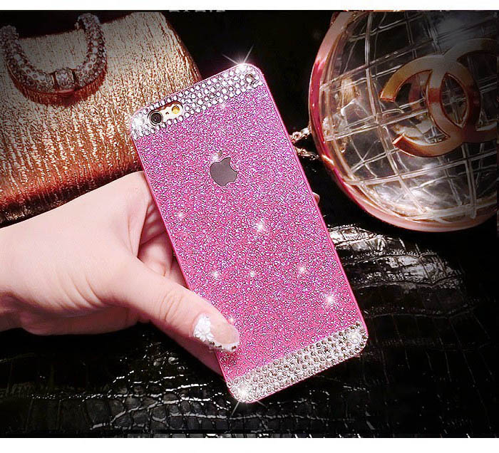 Trendy Glitter bling Plastic hard case for iPhone 5 5s 6 6s/ Crystal rhinestone Protective Back cover for 6 6s plus CH147(China (Mainland))