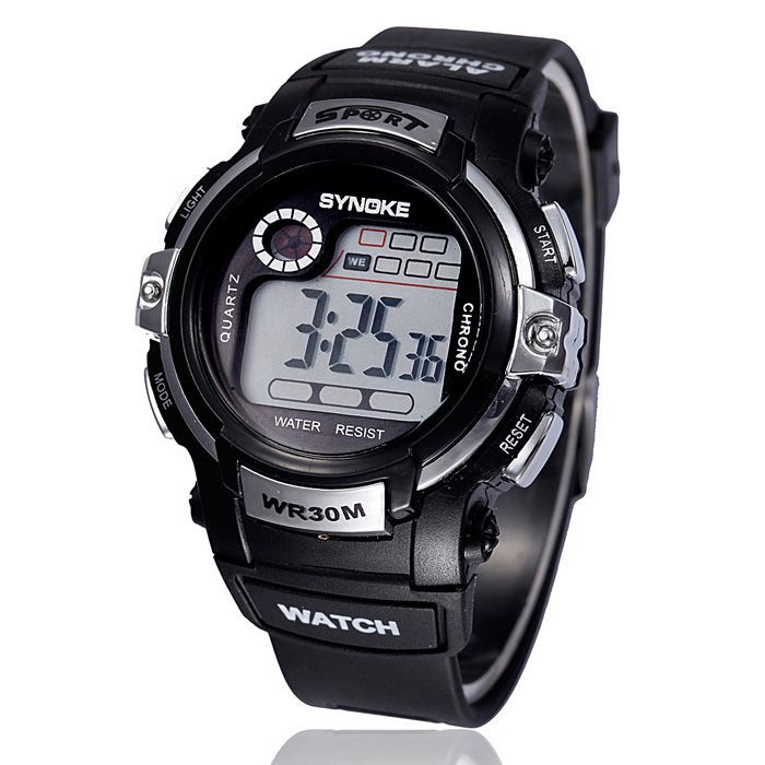 2015 Men Women Outdoor Sports Waterproof Multifunction Electronic Digital LED Wrist Watch Alarm Date Snow(China (Mainland))