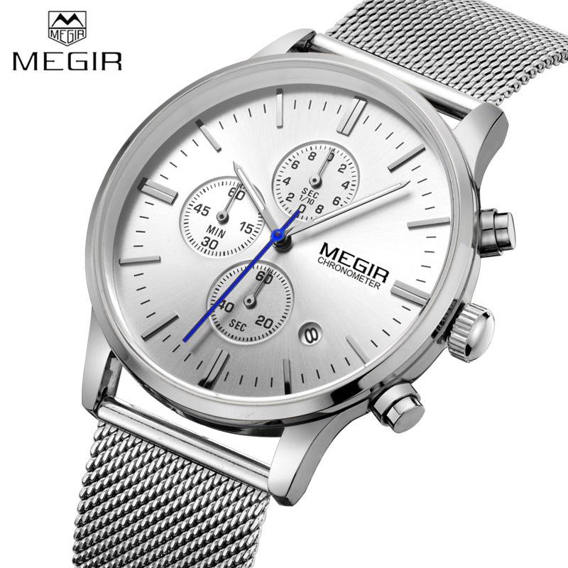 famous watch brands promotion shop for promotional famous watch megir men watches business steel watch brand luxury famous chronograph watches for man clcok quartz watch relogio masculino