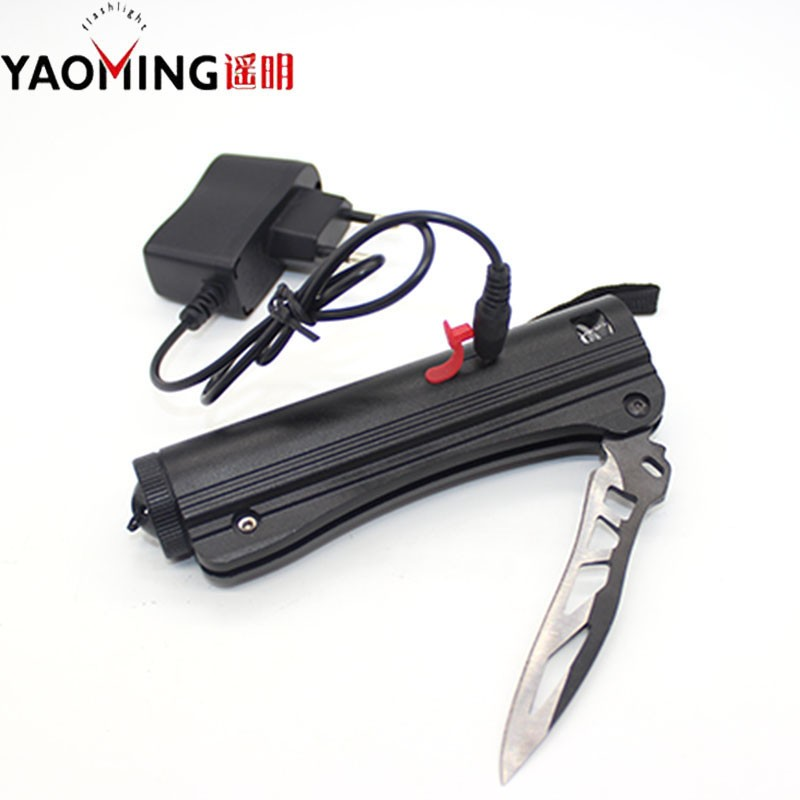 Buy Flashlight Tactical Knife Led flashlight CREE Q5 2000LM led lamp lantern light rechargeable self defense 18650 battery + charger cheap
