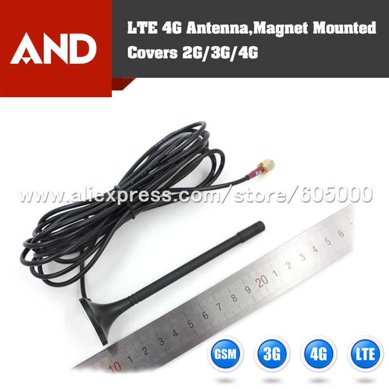 Magnetic Mounted LTE Antenna cellular bands from 698MHz to 960MHz,1710MHz to 2655MHz(China (Mainland))