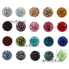 10mm 100pcs/lot Shamballa Beads Clay Pave Disco Rhinestone Crystal Shamballa Beads Bracelet Neacklace DIY jewelry