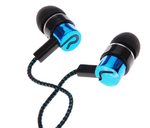 Earphones Jack Standard Noise Isolating 1 1M Reflective Fiber Cloth Line 3 5mm Stereo In ear