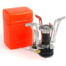 USA Stock! New Ultralight Backpacking Canister Camp Stove with Piezo Ignition 3.9oz(China (Mainland))