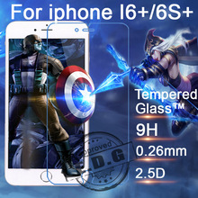0.26mm 9H Explosion Proof Anti scratch LCD Tempered Glass Film For Apple iphone 6 Plus 6S+ 6+ Screen Protector Film