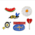 Free Shipping 1Set Packing Backpack Beautify Icons Shoes Package Icon Sewing Accessories Cartoon Metal Pin Badge