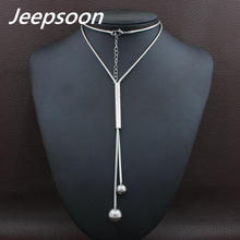 Buy Fashion Stainless Steel Jewelry Woman Simulated Pear Long Chain Necklace High Jeepsoon NEIGAFBD for $4.38 in AliExpress store