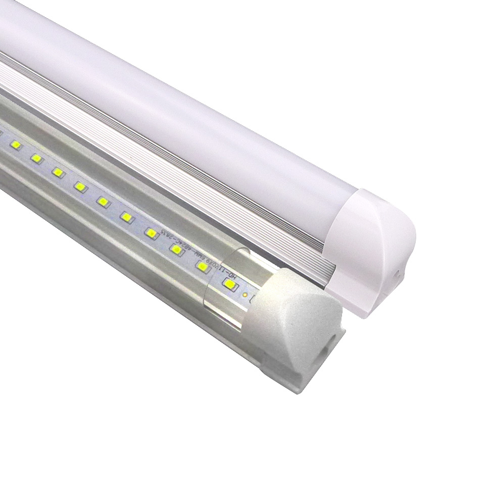 LED T8 Integrated Tube 1200mm Super Bright 22WFluorescent LED Light SMD2835 LED LightingTube Lamp withTransparet Milky Cover<br>