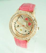 Holiday sale Gogoey Hello kitty crystal watch Children Women wholesale wrist quartz watch new arrival go033
