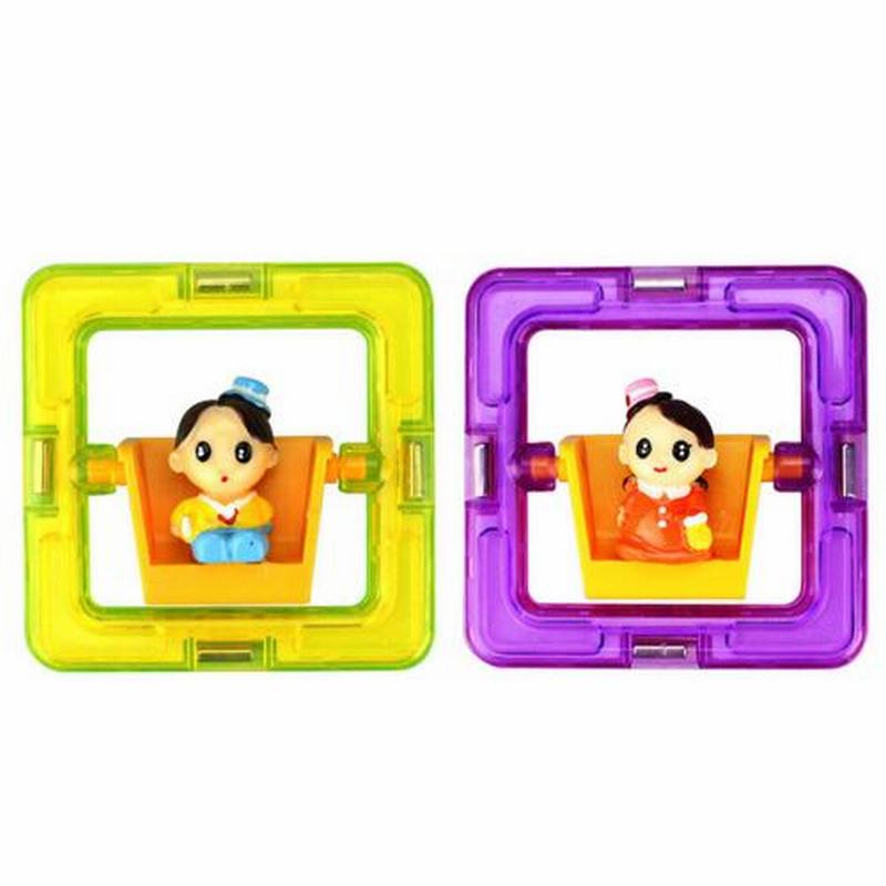 Square Magnetic With Boys Girls Dolls Building Toy Toddler Children Educational Game Toddler Building Construction Toys(China (Mainland))