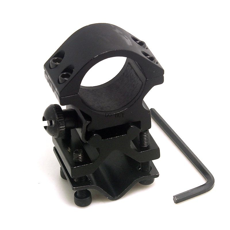 1inch 25.4mm Ring and 20mm Rail Action Tactical Flashlight Laser Torch Surefire Barrel Streamlight Bracket Mount(China (Mainland))