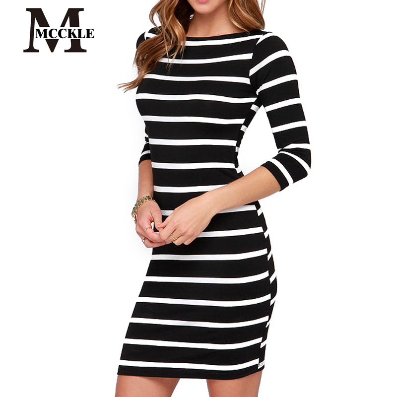 Everyday Dresses For Women Slimming Wrap Women's Fashion Clothing Autumn 2015 Casual Striped Bodycon Dress Fall 871(China (Mainland))