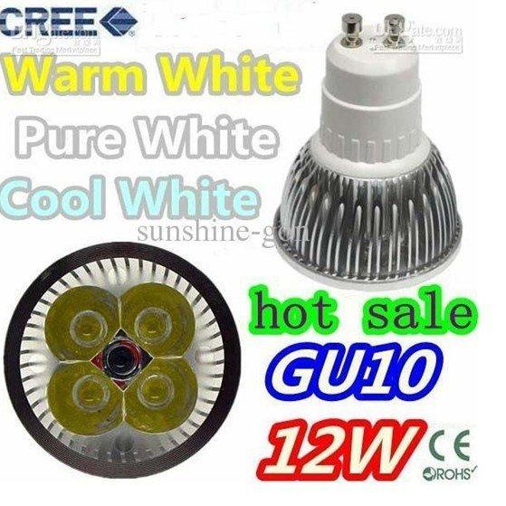GU10 12W CREE LED DOWNLIGHTS ENERGY SAVING lights 30PCS  Dhl fedex ems ups free