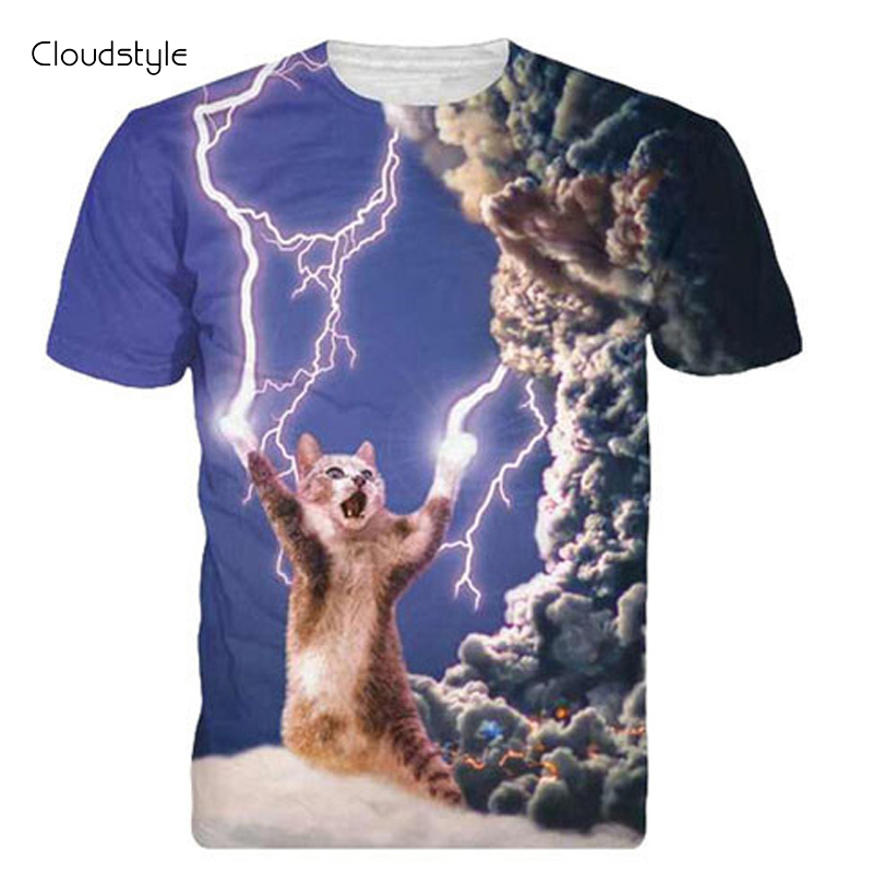 2016 Brand Clothing 3D T Shirt Men Thunder Cat Design Summer Style Mens T Shirts Fashion Slim Fitness Hip Hop Funny T Shirts(China (Mainland))