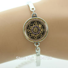 Vintage Tibetan Om Mandala bracelet Yoga bracelet Meditation Buddhist jewelry Sacred geometry jewelry for women wholesale MA31(China (Mainland))