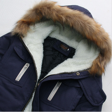 2015 New Arrival Fashion Men s Parka Revestimentos Hooded Fur Long Chaqueta Invierno Hombre Thick Mens