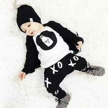 2016 new style Baby clothes sets autumn and spring girls clothing sets baby boy clothes set long-sleeve and pants(China (Mainland))