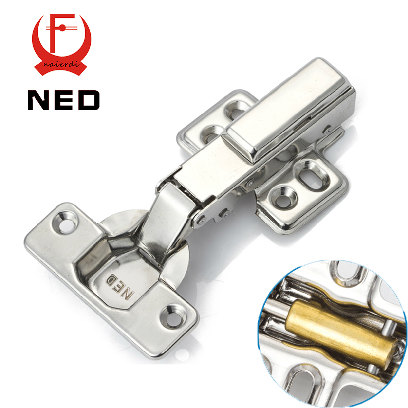10PCS NED 304 Stainless Steel Full Overlay Hinge Copper Core Buffer Cabinet Cupboard Door Hydraulic Hinges Furniture Hardware<br><br>Aliexpress