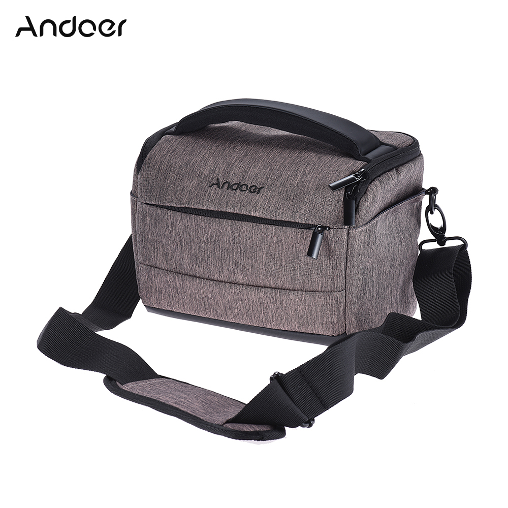 Andoer DSLR Camera Bag Fashion Polyester Shoulder Bag Camera Case for Canon Nikon Sony FujiFilm Olympus Panasonic DSLR Cameras(China (Mainland))