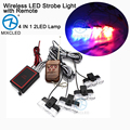 1Set 4 IN 1 2LED Wireless Remote DC 12V led Warning light Car Truck Light Flashing