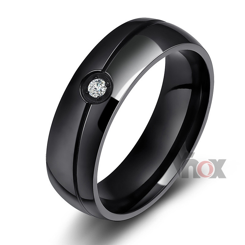 Fashion men and women wedding rings stainless steel ring o jewelry(China (Mainland))