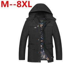 8XL 6XL 5XL 4XL High Quality Winter Jacket Men Brand 2016 Warm Thicken Coat Famous Cotton-Padded Fashion Parkas Elegant Business(China (Mainland))