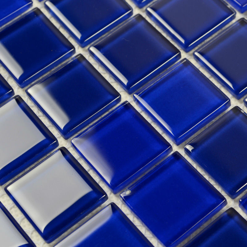 blue glass mosaic tile backsplash crystal glass tiles kitchen wall
