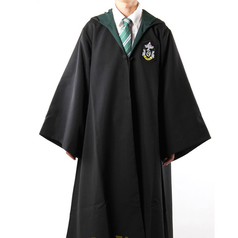 Harry Potter Robe Gryffondor avec Cravate Cosplay Costume Adulte Harry potter Robe cape 4 styles Halloween Cadeau 11 TAILLE(China (Mainland))