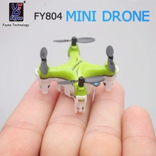 Pocket Mini Drone Quadrocopter FY804 4CH 2.4G 6Axis 360 Degree Roll Helicopter LED Plane Model Toys RC Helicopter 2.2cm Dron