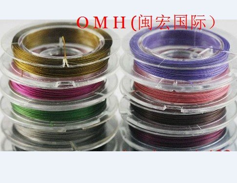 OMH wholesale 10roll 10mx0.38mm DIY production tool line mixed Stainless Steel enameled metal wire DY06(China (Mainland))