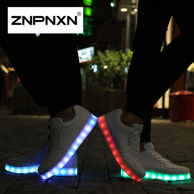 2016 New Women Men Led Shoes For Adults Fashions Light Up Shoes Men Flats Casual Shoes For Men Chaussure Lumineuse 36-43<br><br>Aliexpress