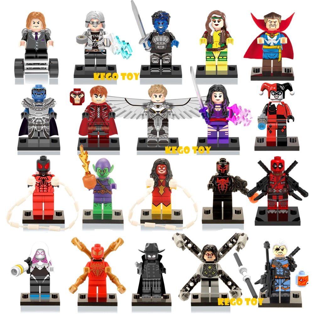 Single Sale Super Hero Marvel DC Avengers Minifigures Spider man Hulk Deadpool Batman Building Blocks Toys compatible with lego(China (Mainland))