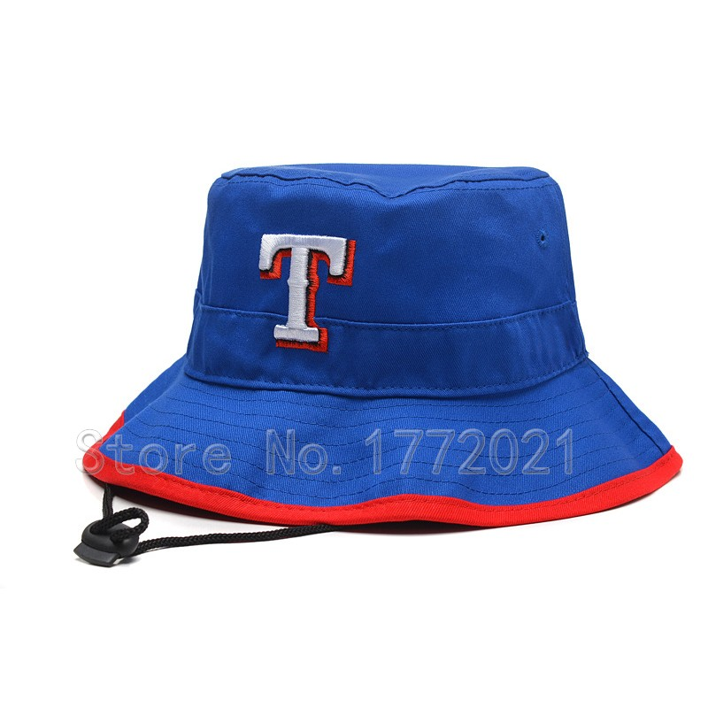 2016 Men's Baseball Sport Team Texas Rangers Bucket Hats In Royal Blue Embroidered T Outdoor Summer Caps For Women(China (Mainland))