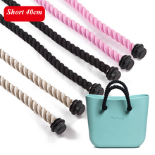 1 par Negro Natural bolsas de Asas de Cuerda de Cáñamo de Las Mujeres Cortas correa de bolsa O bolso Bandolera taping AMbag obag 40 cm(China (Mainland))