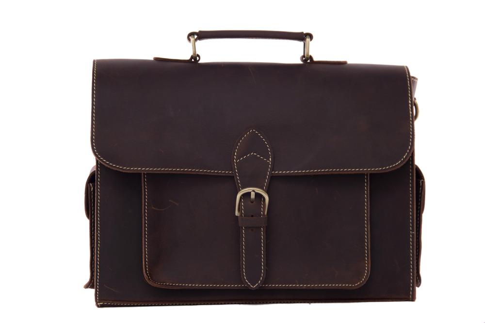 ROCKCOW High Quality Genuine Leather Briefcase Men Messenger Shoulder Bag Men Handbags 9098(China (Mainland))