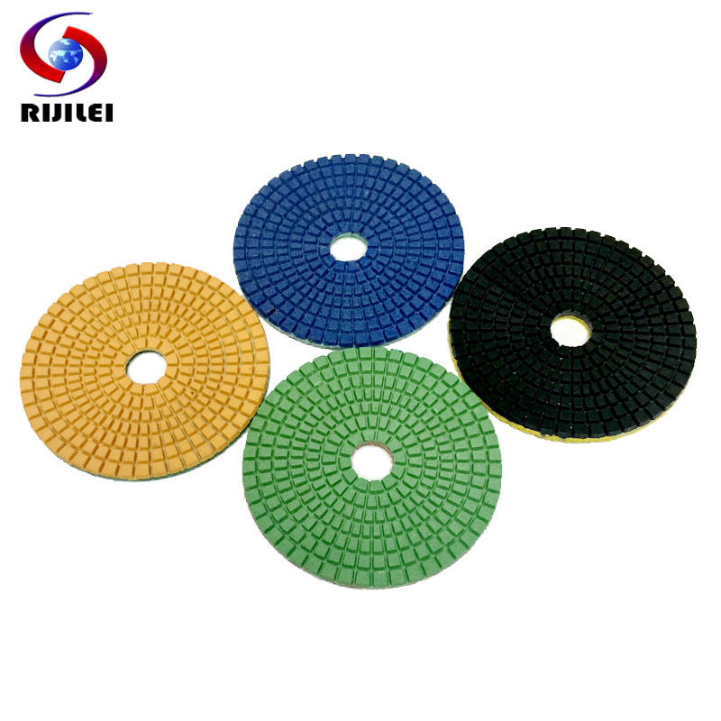 (3DS3) 10 pieces 3inch 80mm Polishing Pads wet flexible polishing pad Trapezoid teeth diamond polisihg fit granite polish - RIJILEI GZ Store store