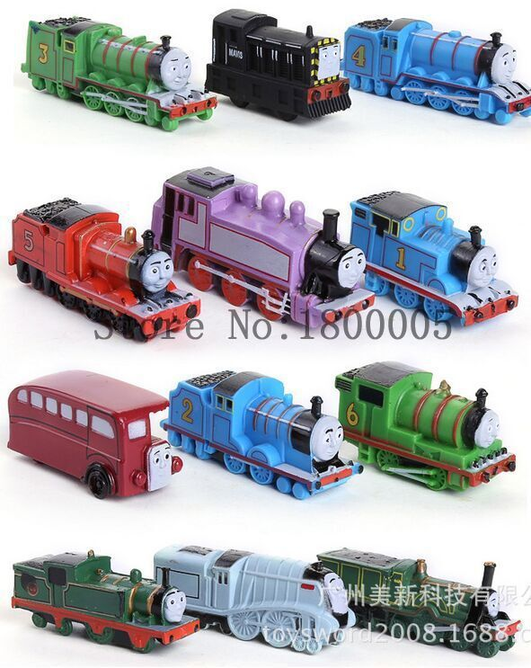 12 Pcs Thomas & Friends Mini Action Figures Trains and Coal Car Gift Set,Best Kids Game Toys(China (Mainland))
