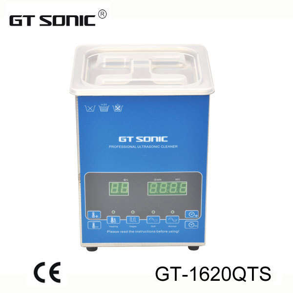 2L ultrasonic cleaner with bath cleaning for Laboratory use with dual power and frequency, with free basket GT-1620QTS(China (Mainland))