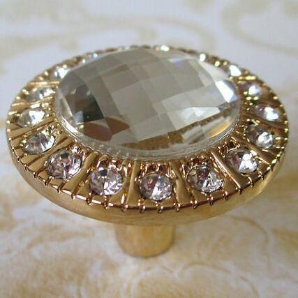 Glass Dresser Knobs Crystal Drawer Knobs Handles Sparkle Clear Diamond / GOLD  Cabinet Bling Knobs Furniture decoration Hardware<br><br>Aliexpress
