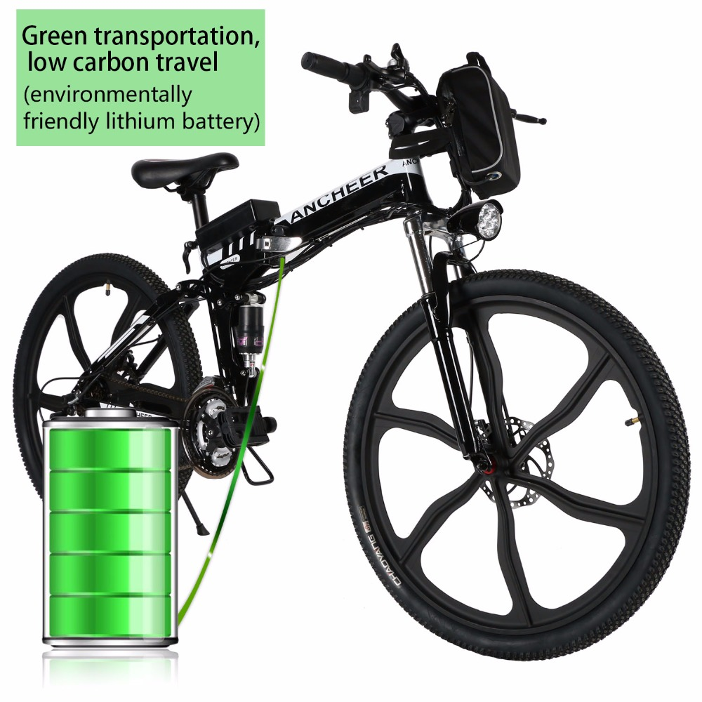 new 26'' 27Speed Folding Electric Disc brake Mountain Bike with Lithium-Ion Battery Anti-shock MTB Disc Brakes Electric Bicycle(China (Mainland))