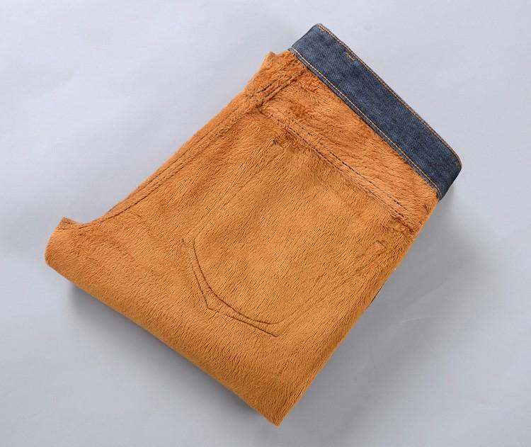 Скидки на Бесплатная доставка 2016 новый мужской зимний плюс толстый бархат Широкий Songane удобрений XL теплые прямые джинсы размер 28-48 Дешевые оптовая