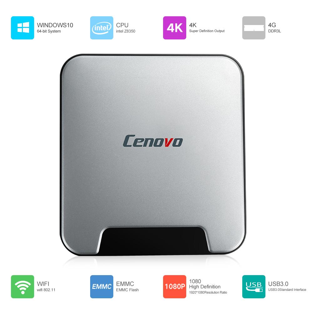 Cenovo MINIPCS Windows 10 Mini PC Intel Z8350 4GB / 64GB UHD 4K H.265 Bluetooth 4.0 WiFi 1000M LAN Smart TV Box Media Player