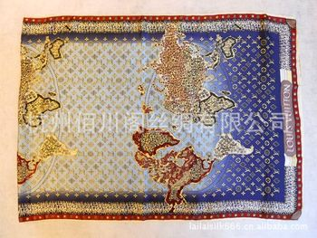 2013 lady's latest Silk Scarf,world map scarf,,good quality,soft feeling,free shipping wholesale,Factory direct,size:170*65cm,
