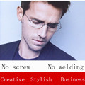 New Creative screwless eyewear brand glasses frames male myopia ultralight personalized glasses Business