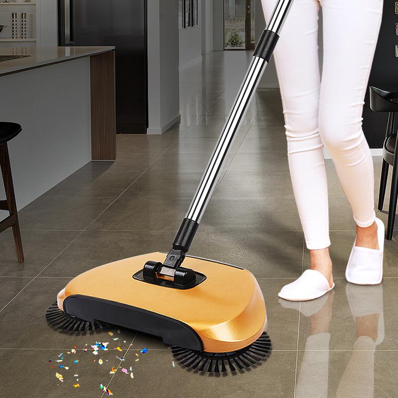 Sweeping Machine Push Type Magic 360 Broom Sweeper Dustpan Hand Vacuum Floor Balai Robotic Vacuum Cleaner For Home(China (Mainland))
