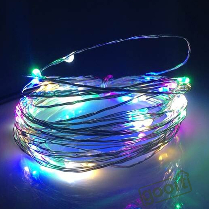 10M 33Ft 100 Leds Starry Copper Wire RGB LED Lights xmas Wedding Decor Starry String Copper Flexible Wire Light(China (Mainland))