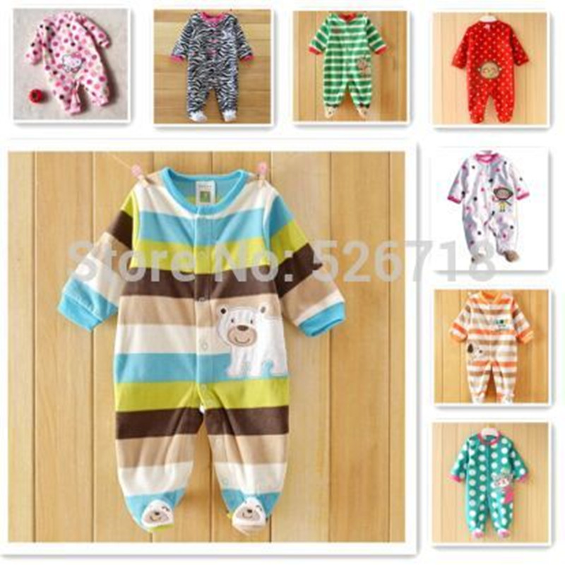 Free Shipping ! 2014 Spring Carters Newborn Clothes Baby Polar Fleece Fabric Romper Long-Sleeve Baby Product , Baby Rompers<br><br>Aliexpress
