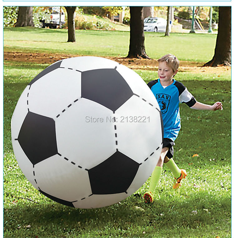 130cm Gigantic Inflatable Soccer Volleyball For Boys Children Outdoor Beach Toys Adult Garden Party Supply Kids Giant Football(China (Mainland))