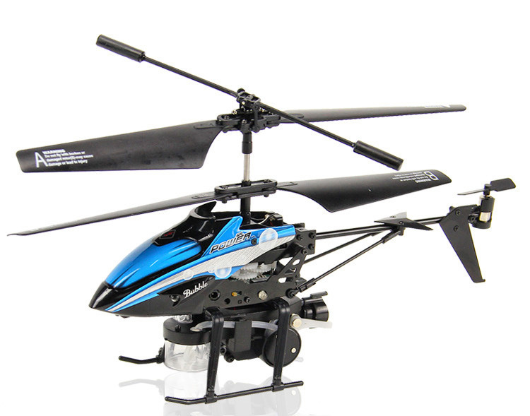 Free shipping wl toys v757 3.5CH Blowing bubbles radio control Metal RC Helicopter /wl radio control helicopter(China (Mainland))