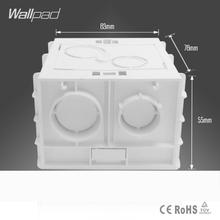 Free Shipping Wallpad  86*86MM Cassette Universal White Wall Mounting Box for Wall Switch and Socket  Back Box(China (Mainland))